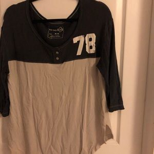 Free People Baseball Henley Tee